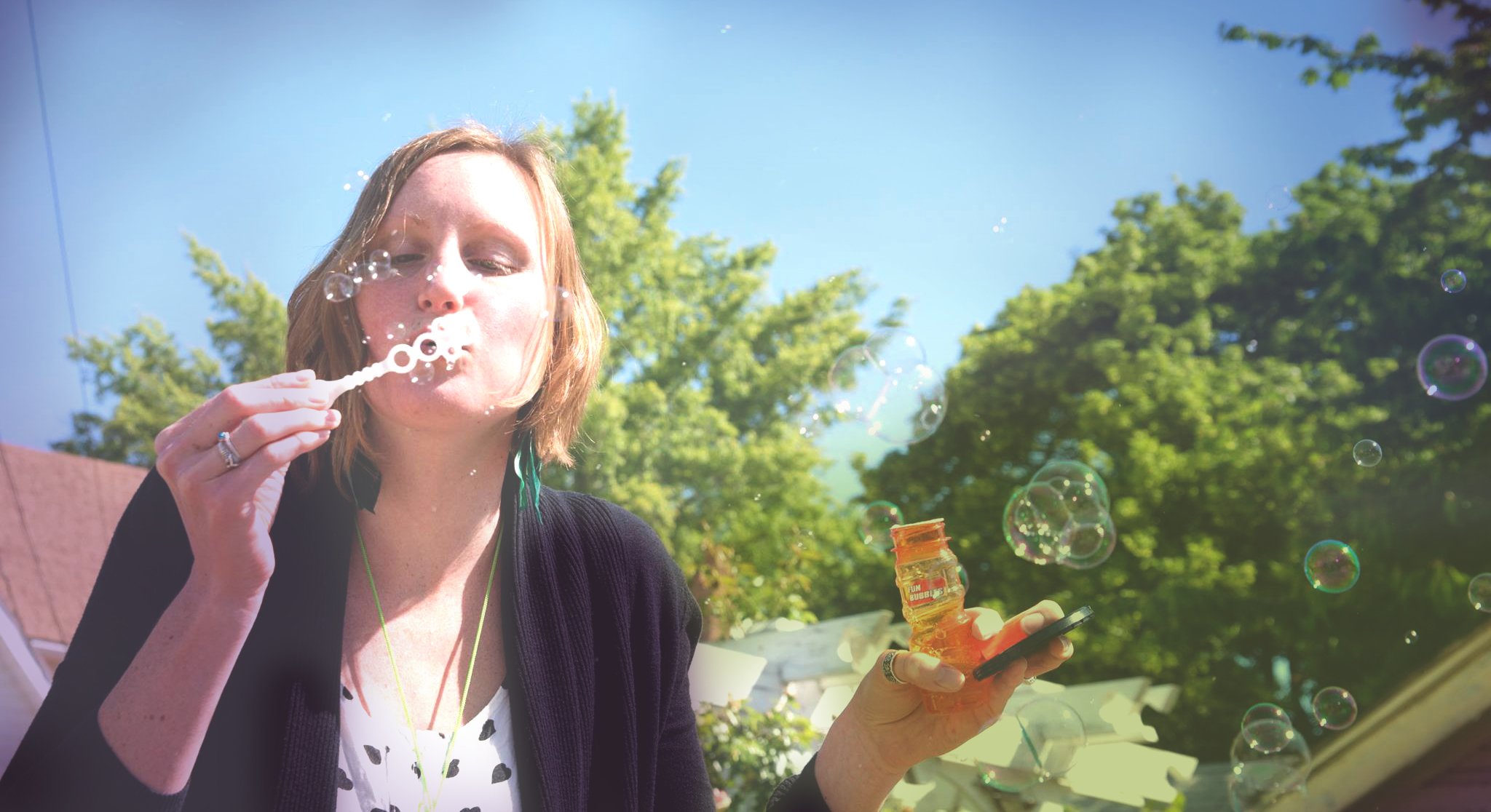 Blowing bubbles for B-roll for my sister the videographer. One of many odd jobs I've been lucky enough to do.