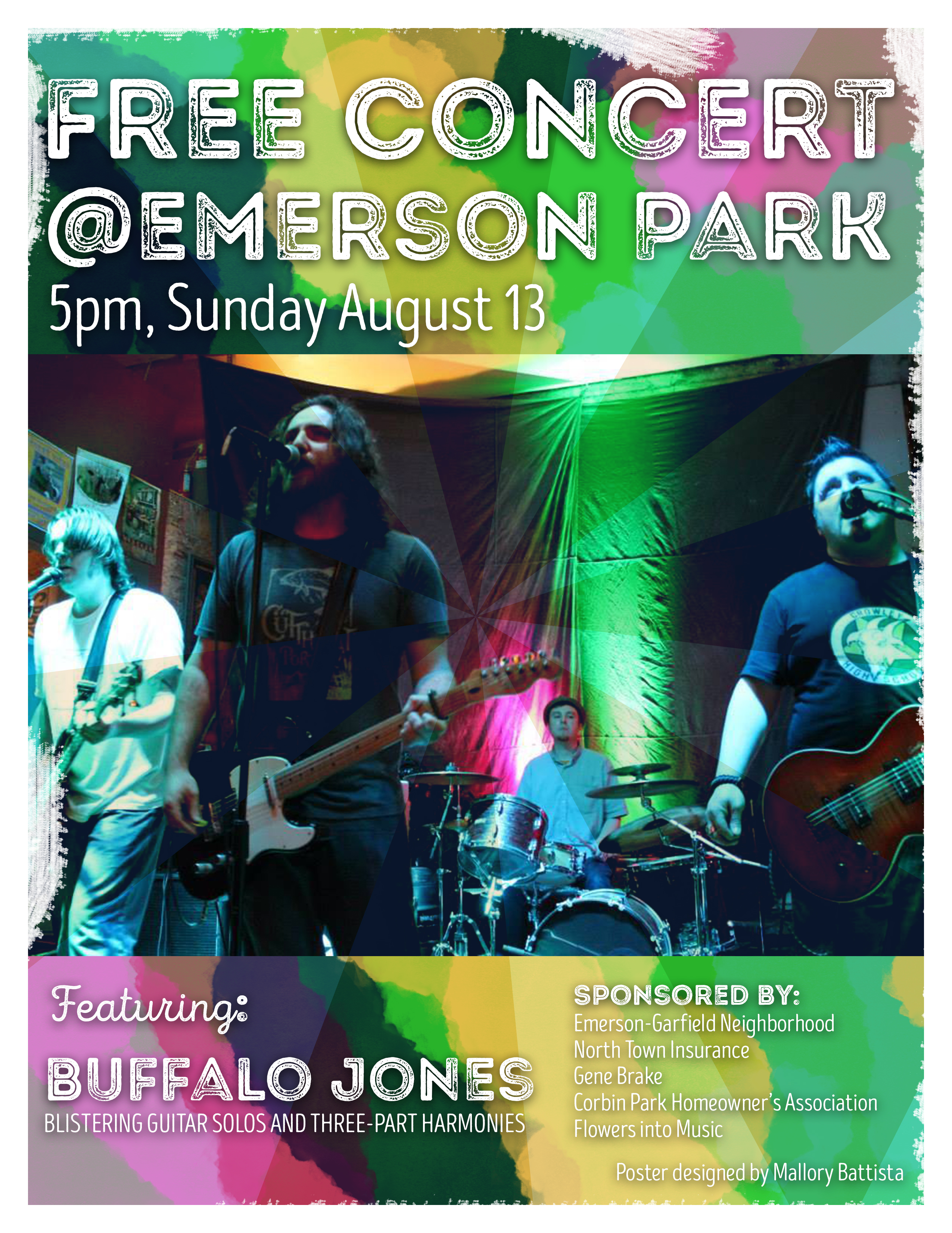 2017 Concert in the Park Poster