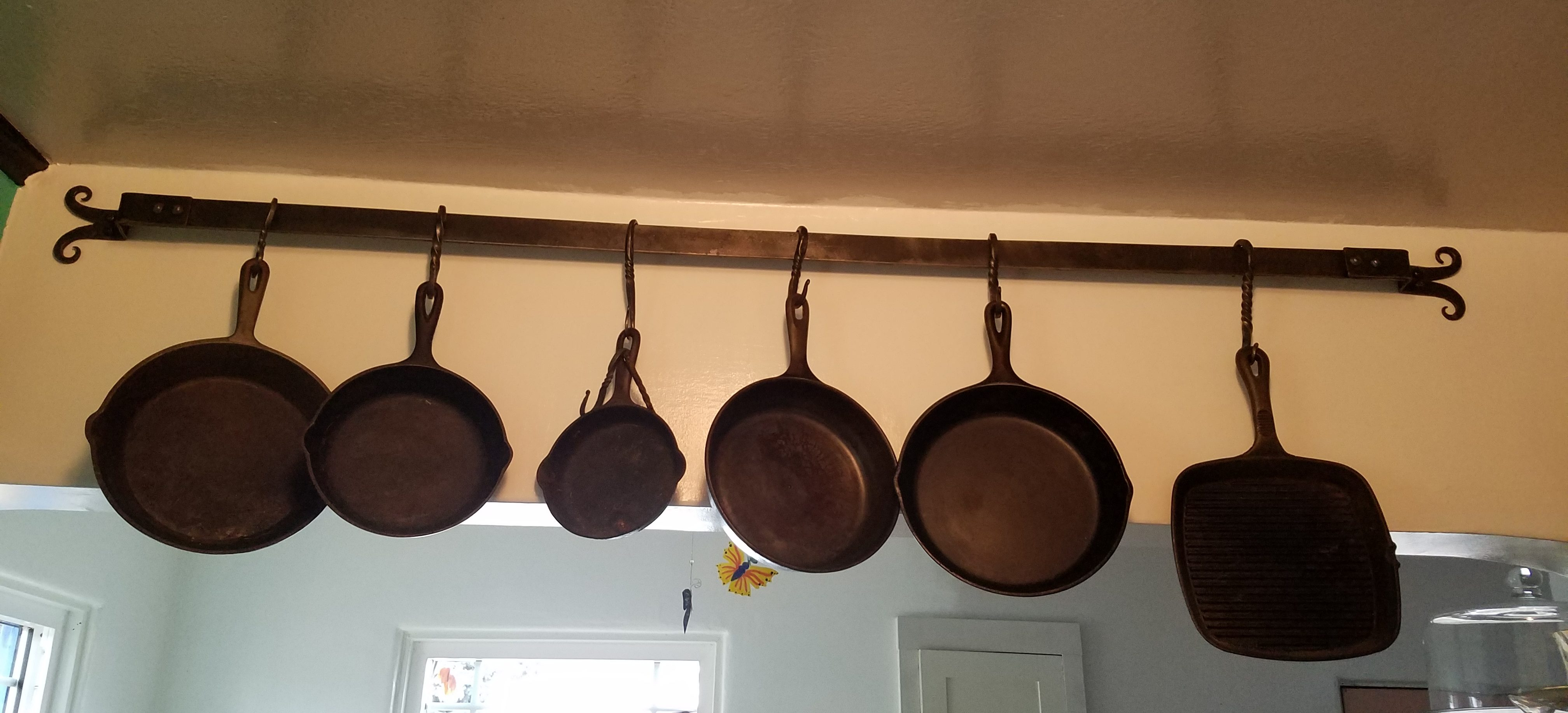 Finished pot rack.